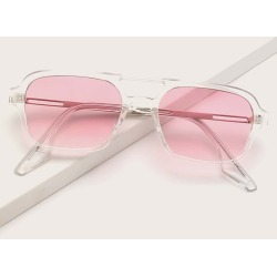 Clear Frame Tinted Lens Sunglasses found on Bargain Bro from SHEIN for USD $5.89