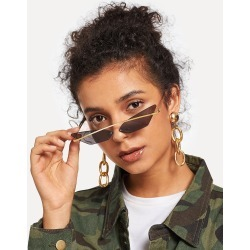 Rimless Cat Eye Sunglasses found on Bargain Bro India from SHEIN for $8.51
