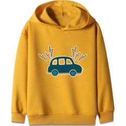 Boys Car Print Hooded Sweatshirt found on MODAPINS from Sheinside for USD $13.00