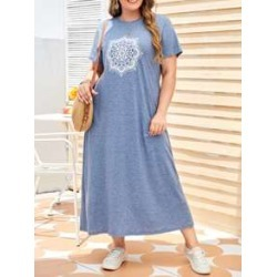 Plus Mandala Print Tee Dress found on Bargain Bro Philippines from Sheinside for $17.00