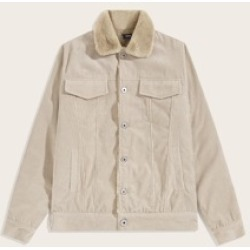 Men Single Breasted Faux Fur Lining Cord Jacket found on Bargain Bro India from Sheinside for $53.00