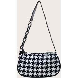 Houndstooth Baguette Bag found on Bargain Bro from SHEIN for USD $4.10