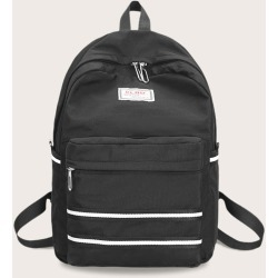 Men Striped Pocket Front Backpack found on Bargain Bro Philippines from SHEIN for $20.72