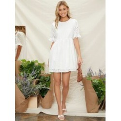 Ruffle Cuff Schiffy Smock Dress found on Bargain Bro Philippines from Sheinside for $26.00