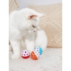 3pcs Random Color Cat Balls With Bells found on Bargain Bro India from SHEIN for $3.77