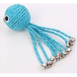 1pc Octopus Shaped Cat Toys With Bell
