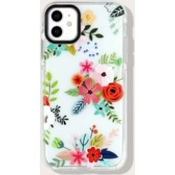 Flower Print Clear iPhone Case found on Bargain Bro Philippines from Sheinside for $2.00