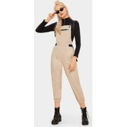 Pocket Side Zipper Tapered Overall found on Bargain Bro Philippines from Sheinside for $20.00