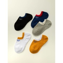 5pairs Contrast Trim Ankle Socks found on Bargain Bro from SHEIN for USD $6.73