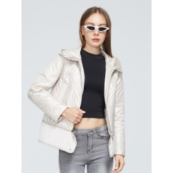 Zip Up Hooded Padded Coat found on Bargain Bro Philippines from SHEIN for $69.15