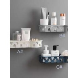 1pc Bathroom Wall Mounted Storage Rack