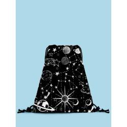 Planet Print Drawstring Backpack