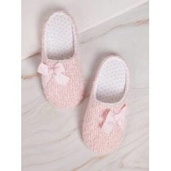 Bow Decor Flat Slippers found on Bargain Bro India from Sheinside for $7.00