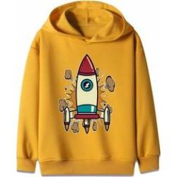 Boys Rocket Print Hooded Sweatshirt found on MODAPINS from Sheinside for USD $15.00