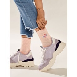 Planet Embroidery Socks 1pair