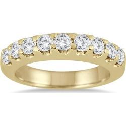 1 Carat TW Nine Stone Diamond Wedding Band in 10K Yellow Gold found on Bargain Bro from szul.com for USD $447.64