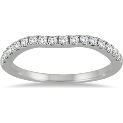 1/5 Carat TW Diamond Curved Wedding Band in 14K White Gold found on Bargain Bro from szul.com for USD $257.64