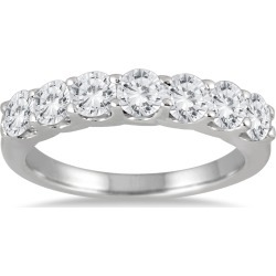 1 3/8 Carat TW Seven Stone Diamond Wedding Band in 14K White Gold found on Bargain Bro from szul.com for USD $675.64