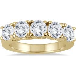 2 1/2 Carat TW Five Stone Diamond Wedding Band in 14K Yellow Gold found on Bargain Bro from szul.com for USD $1,899.24