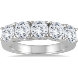 2 1/2 Carat TW Five Stone Diamond Wedding Band in 14K White Gold found on Bargain Bro from szul.com for USD $1,899.24