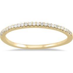 1/10 Carat TW Diamond Wedding Band in 10K Yellow Gold found on Bargain Bro from szul.com for USD $143.64