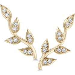 1/5 Carat TW Diamond Vine and Leaf Earrings in 14K Yellow Gold found on Bargain Bro Philippines from szul.com for $299.00