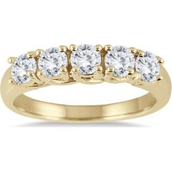 1 Carat TW Five Stone Diamond Wedding Band in 14K Yellow Gold found on Bargain Bro India from szul.com for $789.00