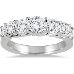 1 1/3 Carat TW Diamond Band in 14K White Gold found on Bargain Bro from szul.com for USD $675.64