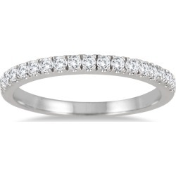 1/3 Carat TW Diamond Wedding Band in 10K White Gold found on Bargain Bro India from szul.com for $299.00