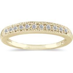 1/10 Carat TW Diamond Wedding Band in 10K Yellow Gold found on Bargain Bro from szul.com for USD $189.24