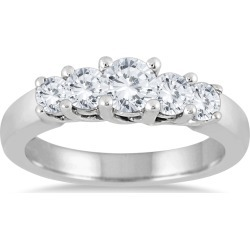 1 Carat TW Five Stone Diamond Wedding Band in 10K White Gold found on Bargain Bro from szul.com for USD $607.24