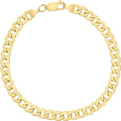 14K Yellow Gold Filled 5.8MM Curb Link Bracelet with Lobster Clasp found on Bargain Bro Philippines from szul.com for $87.00