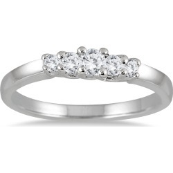1/4 Carat TW Five Stone Diamond Wedding Band in 10K White Gold found on Bargain Bro from szul.com for USD $174.04