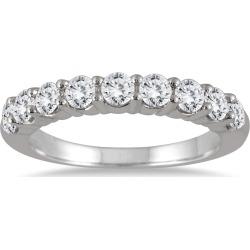 1 1/3 Carat TW 9 Stone Diamond Wedding Band in 14K White Gold found on Bargain Bro from szul.com for USD $531.24