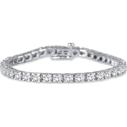 AGS Certified 7 Carat TW Diamond Tennis Bracelet in 14K White Gold found on Bargain Bro Philippines from szul.com for $4999.00