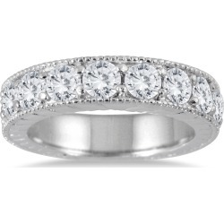 1 1/2 Carat TW Diamond Engraved Antique Ring in 10K White Gold found on Bargain Bro from szul.com for USD $721.24
