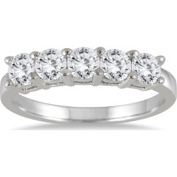 1 Carat TW Five Stone Wedding Band in 14K White Gold found on Bargain Bro India from szul.com for $699.00