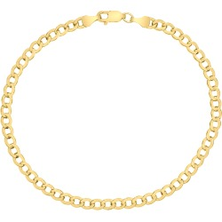 14K Yellow Gold Filled 4.1MM Curb Link Bracelet with Lobster Clasp found on Bargain Bro Philippines from szul.com for $49.00