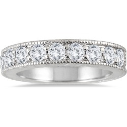 1 Carat TW Diamond Engraved Antique Ring in 10K White Gold found on Bargain Bro from szul.com for USD $455.24