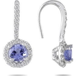 3/4 Carat TW Tanzanite and Diamond Earrings in 10K White Gold found on Bargain Bro Philippines from szul.com for $199.00