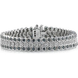 Blue And White Diamond Bracelet in 14k White Gold found on Bargain Bro Philippines from szul.com for $2499.00
