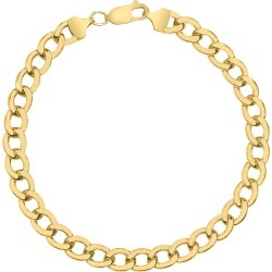 14K Yellow Gold Filled 7.4MM Curb Link Bracelet with Lobster Clasp found on Bargain Bro Philippines from szul.com for $149.00