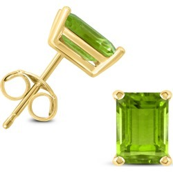 14K Yellow Gold 7x5MM Emerald Shaped Peridot Earrings found on Bargain Bro Philippines from szul.com for $149.00