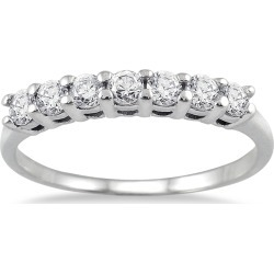 1/2 Carat TW Seven Stone Wedding Band in 10K White Gold found on Bargain Bro India from szul.com for $299.00
