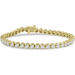AGS Certified 3 Carat TW Three Prong Diamond Tennis Bracelet in 14K Yellow Gold found on Bargain Bro Philippines from szul.com for $1499.00