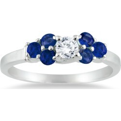 14kt White Gold Diamond and Sapphire Women's Ring found on MODAPINS from szul.com for USD $399.00