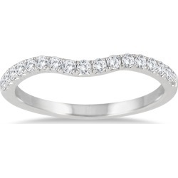 1/4 Carat TW Curved Diamond Wedding Band in 14K White Gold found on Bargain Bro India from szul.com for $399.00