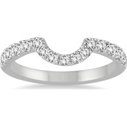 1/3 Carat TW CURVED DIAMOND WEDDING BAND IN 14K WHITE GOLD found on Bargain Bro from szul.com for USD $417.24