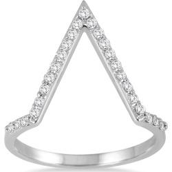1/4 Carat TW Open Diamond V Ring in 14K White Gold found on Bargain Bro India from szul.com for $389.00