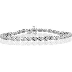 1 Carat TW Diamond X Bracelet in 14k White Gold found on Bargain Bro Philippines from szul.com for $1199.00